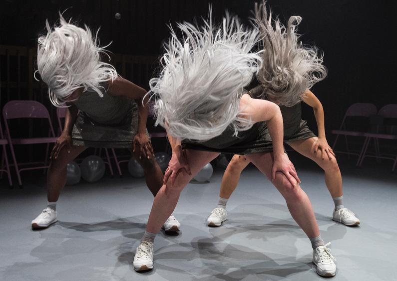3 women dancing
